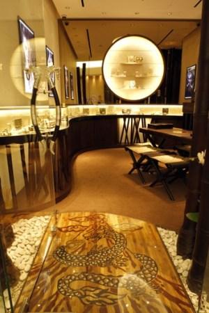 Inside John Hardy's boutique in Jakarta.