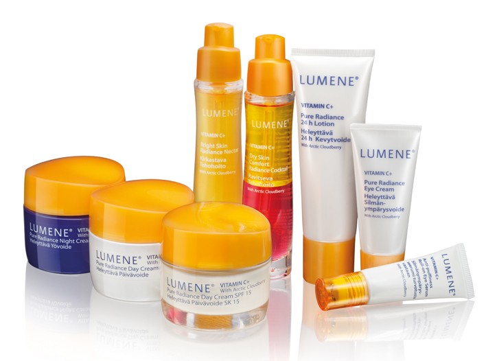 An assortment of Lumene products.