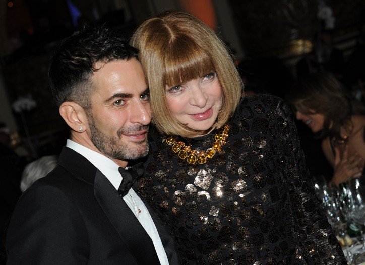 Marc Jacobs honored by the French Institute with Anna Wintour.