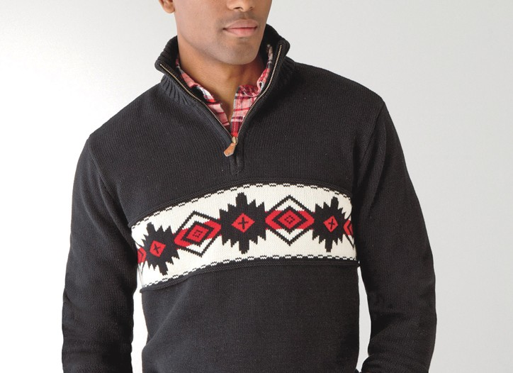 J.C. Penney's American Living sweater is a standout this holiday.