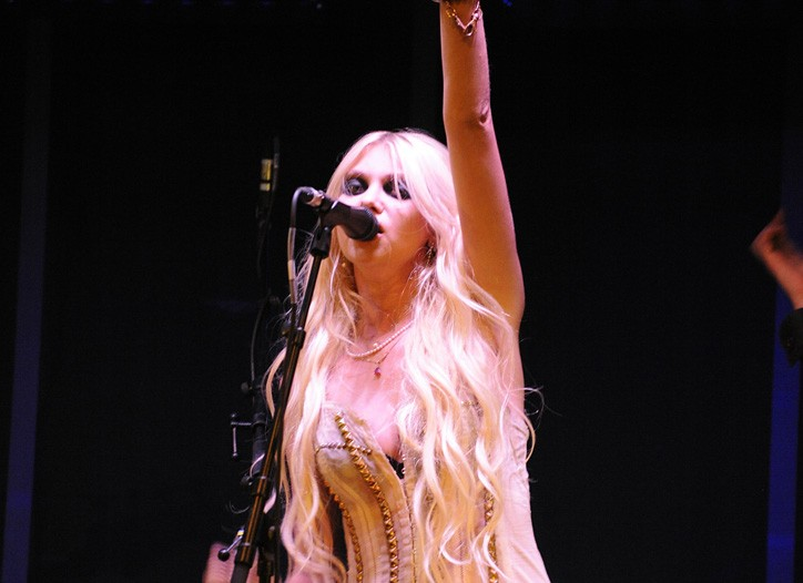 Taylor Momsen performing at a party for John Galliano's new fragrance Parlez-Moi d'Amour.