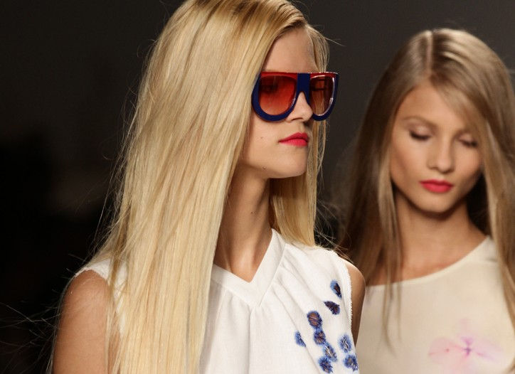 Frizz-free, smooth tresses were seen at Fendi's spring 2011 show.