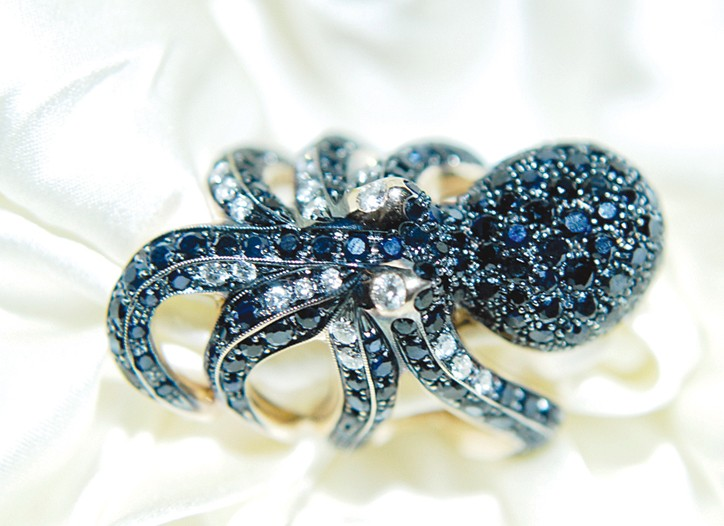 An octopus ring from Roberto Coin.