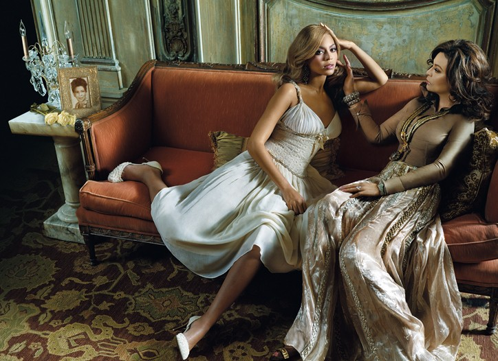 Beyonce and Tina Knowles for House of Dereon