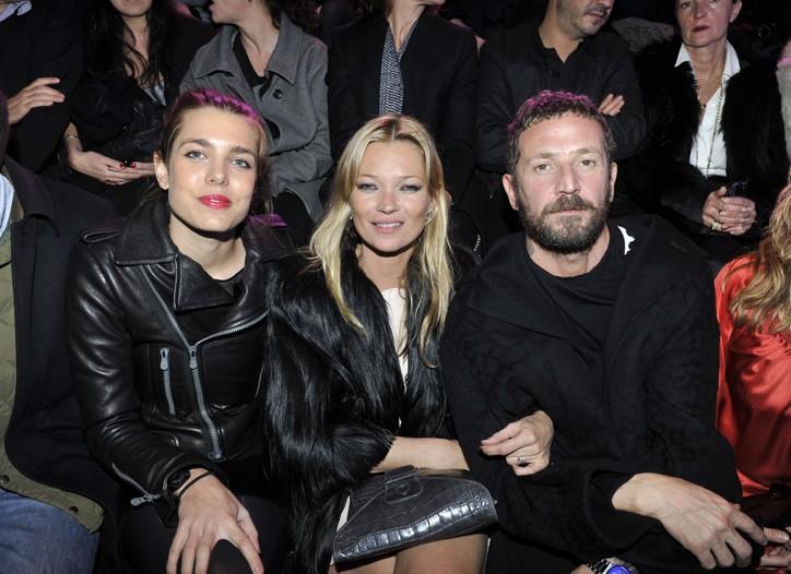 Charlotte Casiraghi, Kate Moss and Stefano Pilati.