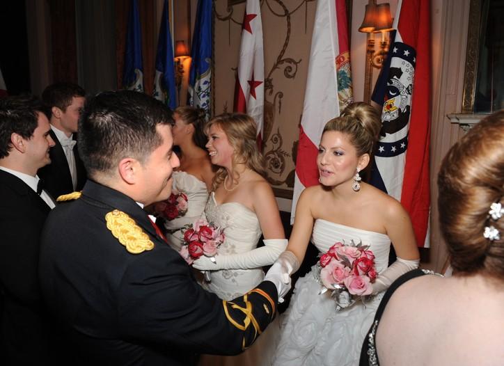 The scene at the International Debutante Ball.