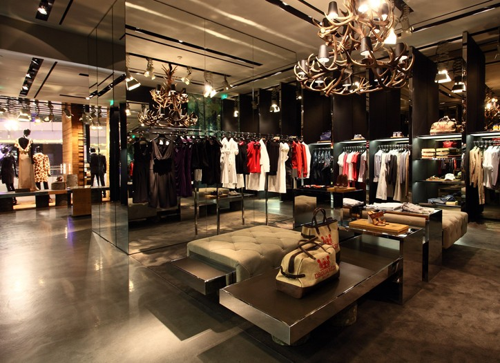 The Dsquared store in Shanghai