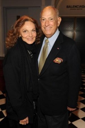 Diane von Furstenberg and Oscar de la Renta