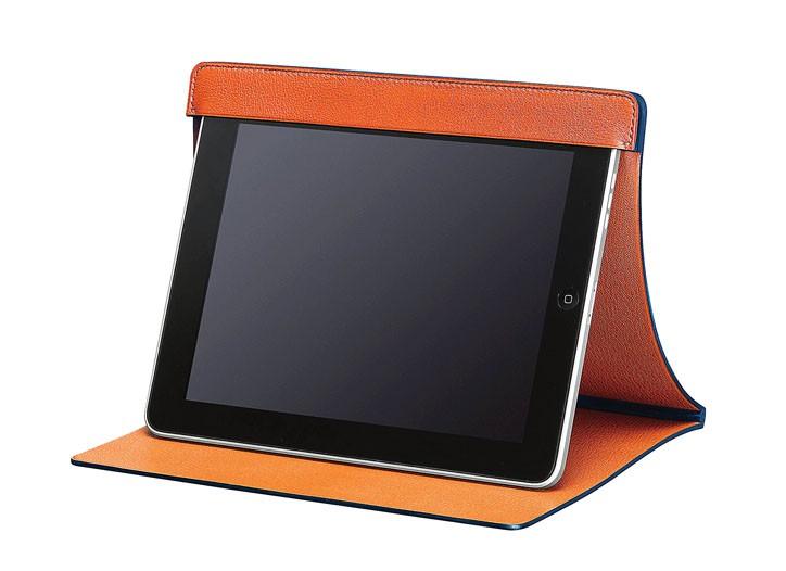 The Hermès iPad station in classic Evergrain calfskin.