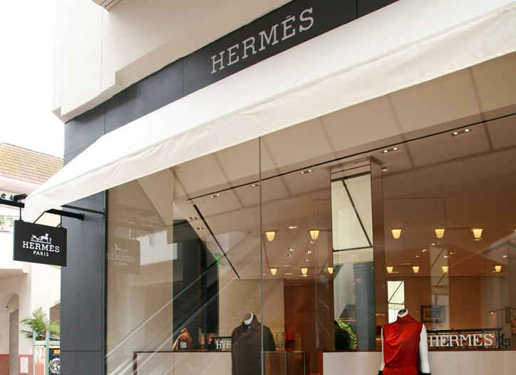 Hermès in the Fashion Valley shopping center.