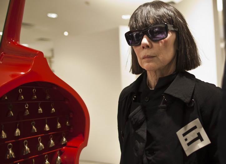 Rei Kawakubo at the new Beijing store