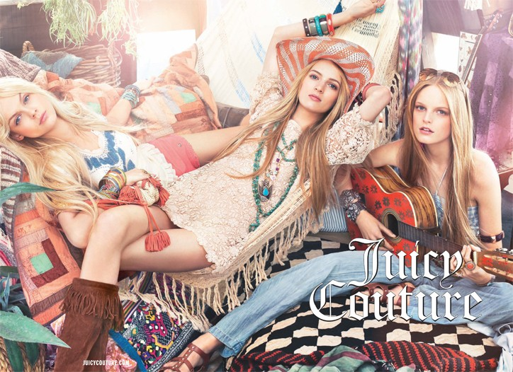 Juicy Couture's spring ad campaign.