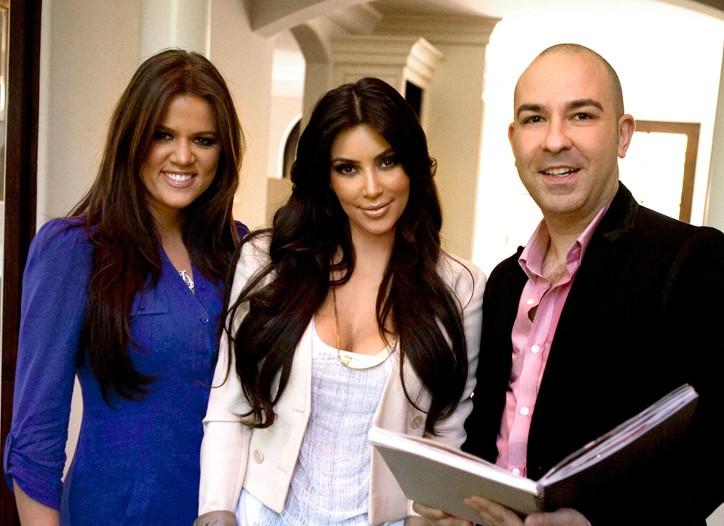 Khloe Kardashian, Kim Kardashian and Bruno Schiavi