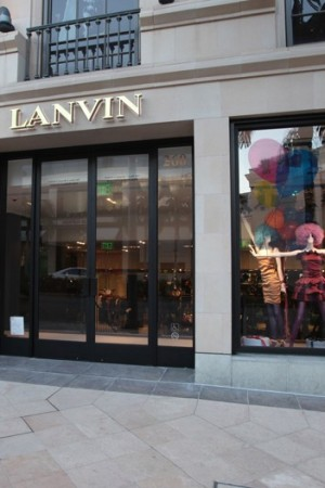 The new Lanvin store in Beverly Hills.