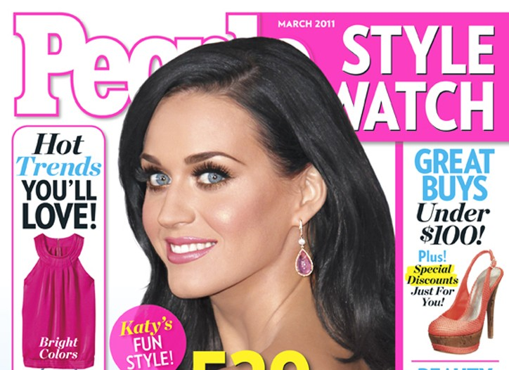 Katy Perry on the cover of People StyleWatch