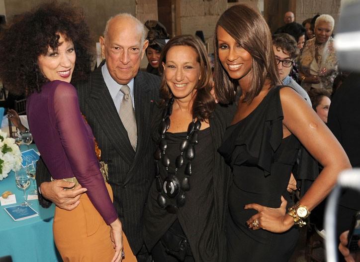 Pat Cleveland, Oscar de la Renta, Donna Karan and Iman