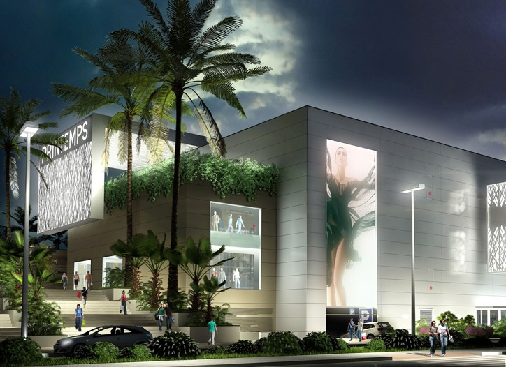 A rendering of the future Printemps store in Cagnes-sur-Mer, France.