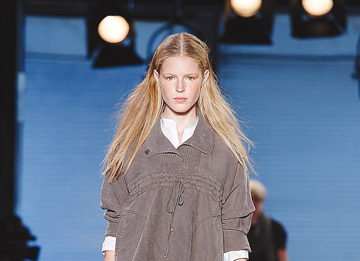 A look from Edun, an eco-friendly label.