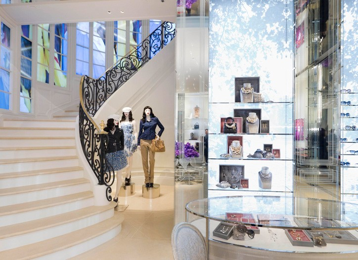 The Dior store in Hong Kong