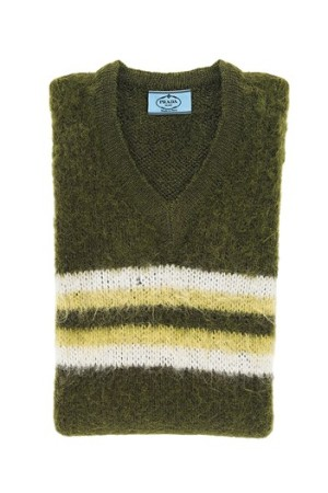 The Prada Made in Peru sweaters retail from $595 to $760.