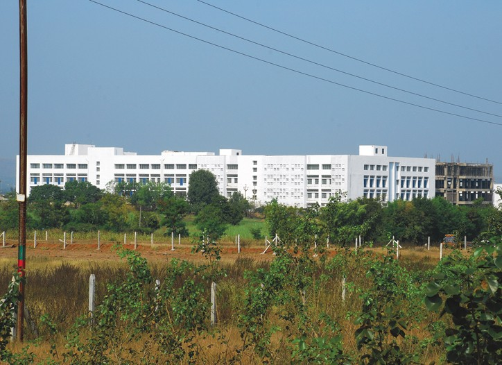 An administration building of the Islampur textile park.