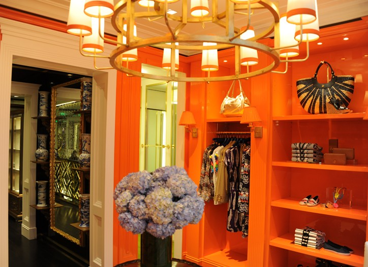 Inside the Tory Burch London store.