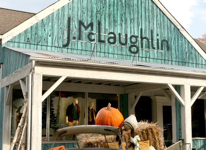 J.McLaughlin in Westport has a barnlike exterior and a souklike interior.