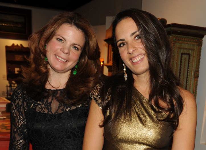 Courntey Booth and Emily Israel in Elie Tahari