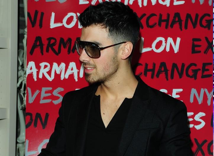 Joe Jonas in Armani Exchange's 3-D glasses