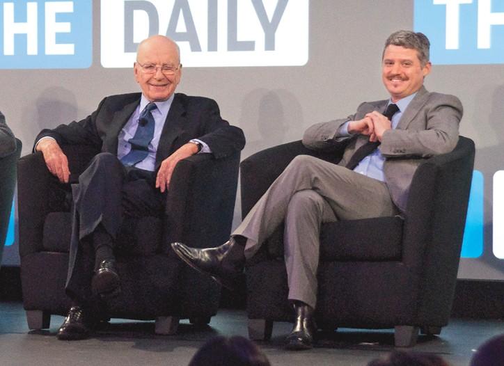 Rupert Murdoch and Jesse Angelo