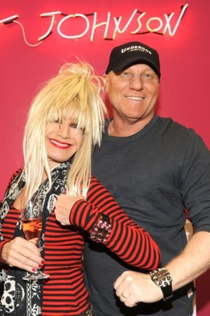 Betsey Johnson and Steve Madden at the launch of Betsey Johnson watches at Haskell Jewels' showroom.