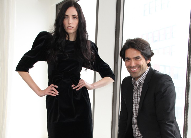 Danielle Zinaich in Brian Atwood shoes with the designer.