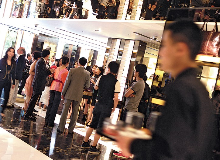 Consumers in Beijing continue to flock to department stores and malls.