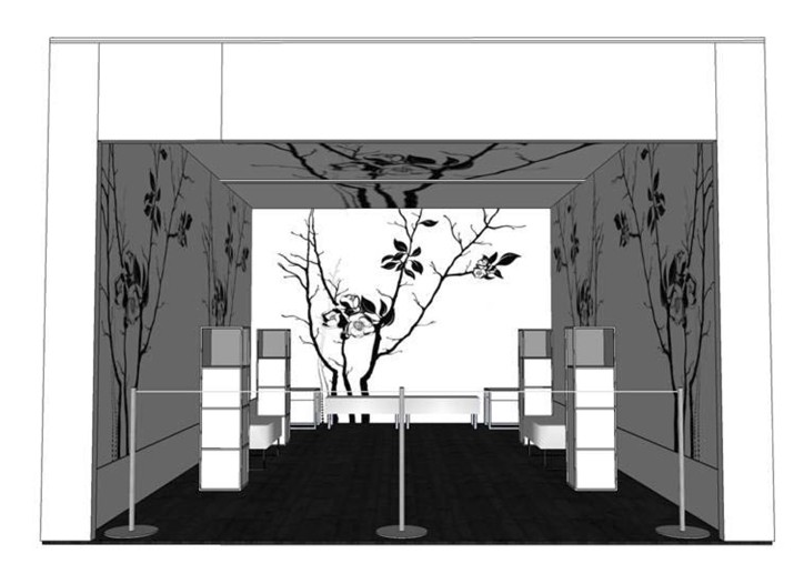 A rendering of the Circa Lounge space.