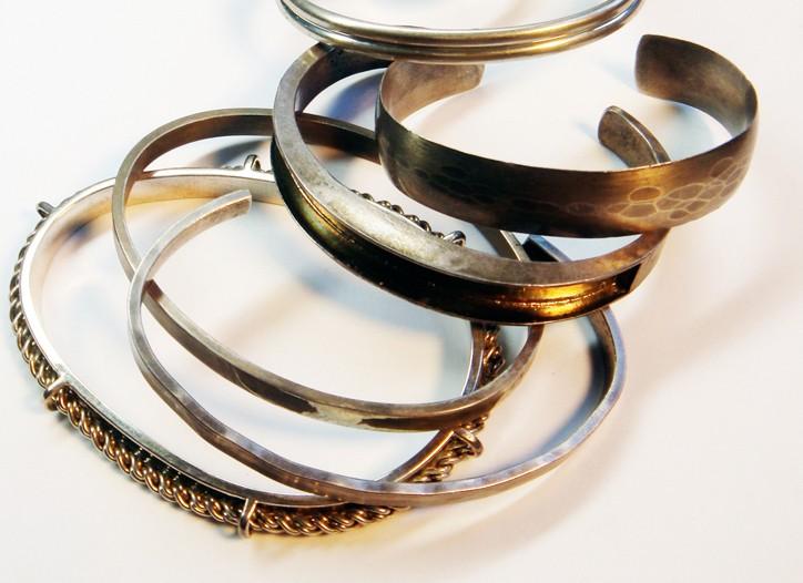 Anna Sheffield serpentine bracelets.