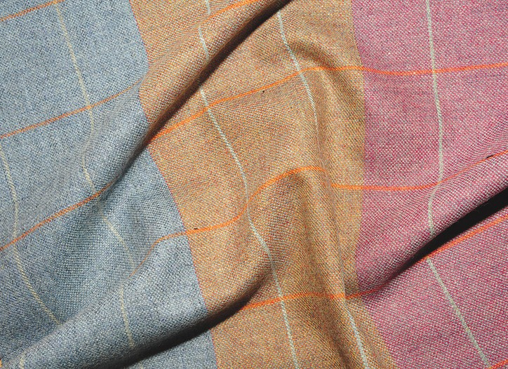 Lightweight wool cashmere summer check by Reid & Taylor.