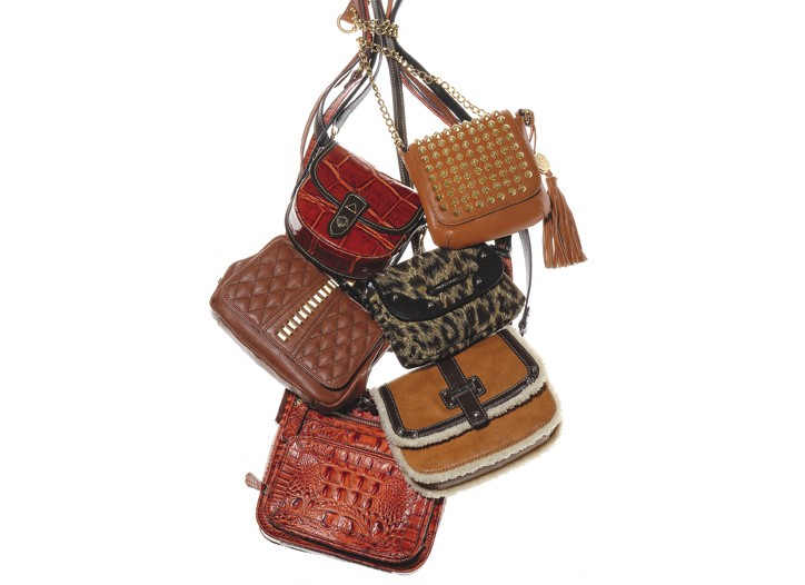 Clockwise from top right: Vince Camuto, Jessica Simpson, Nine West, Brahmin, Franco Sarto and Dooney & Bourke