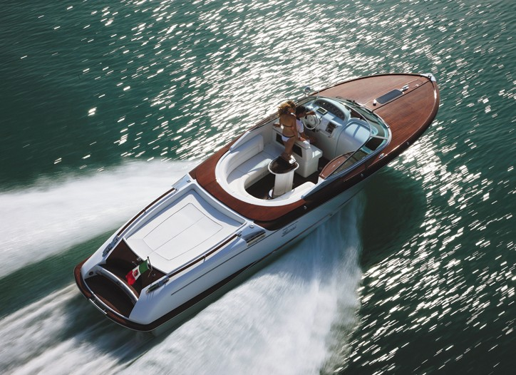 The made-to-order Aquariva Gucci speedboat.
