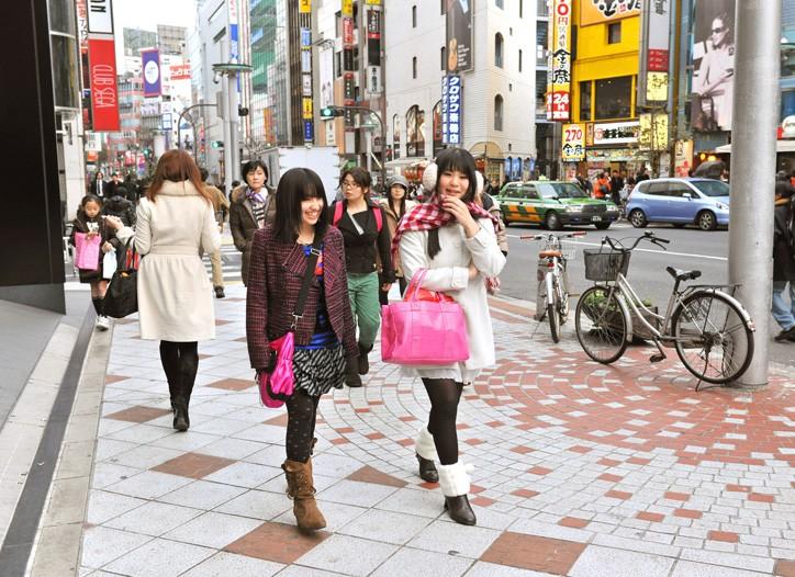 Shopping in Shibuya.