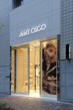 Outside of Jimmy Choo in Tokyo.