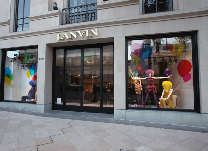 Lanvin store in Beverly Hills.