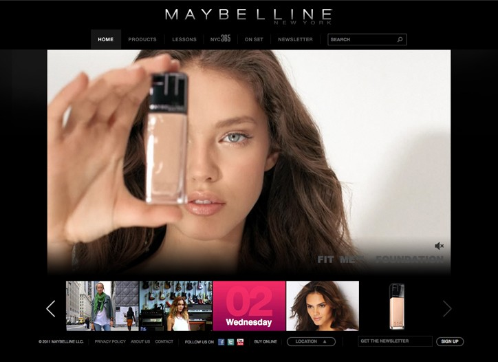 An image from the Maybelline Web site.