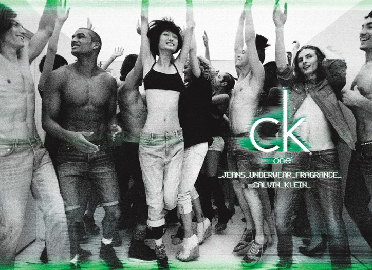 A still from the ck one campaign.