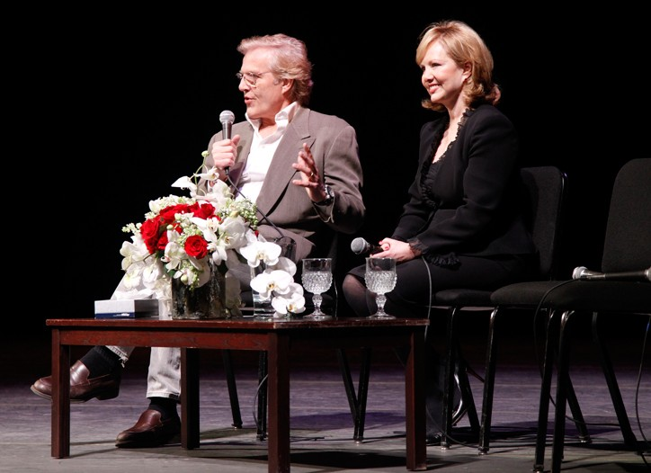 Peter Martins and Susan Stroman onstage in the David H. Koch Theater.