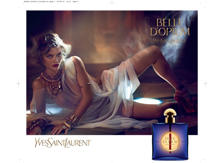 Mélanie Thierry in the fragrance ad.