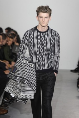 A look from Raf Simons' fall 2011 runway.
