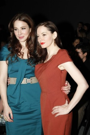 Lynn Collins and Rose McGowan