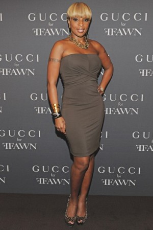 Mary J. Blige on Fashion's Night Out, 2010.