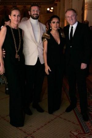 Valerie Hermann, Stefano Pilati, Salma Hayek and François-Henri Pinault.