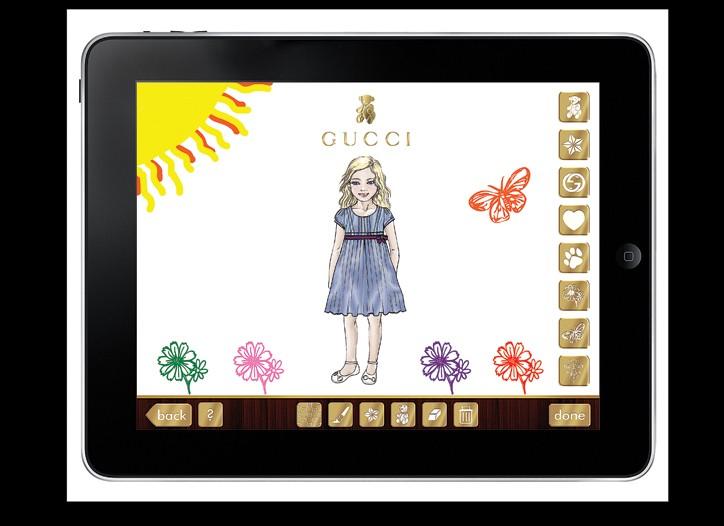 Gucci Ipad app.